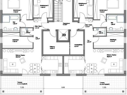 Hier entstehen zwei 6 - Familienhäuser in Herzebrock