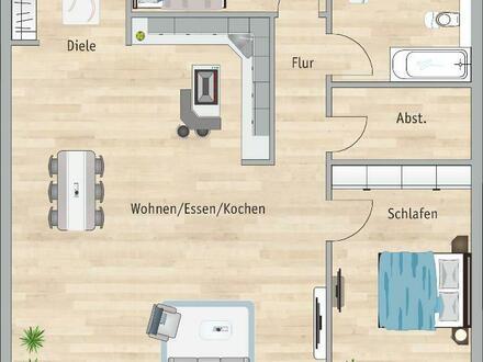 **Wohnen am Kräuterhof! 4 ZIMMER, BALKON + AUFZUG UND TIEFGARAGE**