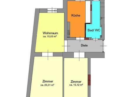 Neu sanierte 3-Zimmer Altbauwohnung mit Balkon - nähe Dietrichsteinplatz