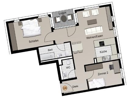Machen Sie es sich gemütlich in Ihrer neuen 3-Zimmer-Wohnung