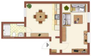 Tolles Ein-Zimmer-Appartement in Penig