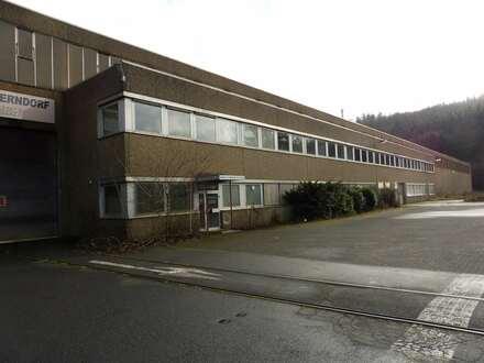 Produktionshalle mit 45 t Brückenkran, Gleisanschluss, Büro- und Lagerfläche in Kreuztal-Ferndorf