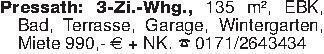 Pressath: 3-Zi.-Whg., 135 m²,...