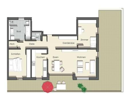 Exklusive und Moderne *Penthouse Wohnung* - 3 Zi mit Dachterrasse