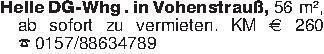 Helle DG-Whg . in Vohenstrauß,...
