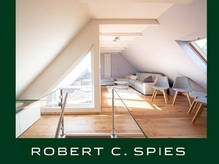 Modern ausgestattete, helle Maisonette-Wohnung in idyllischer Lage Oberneulands