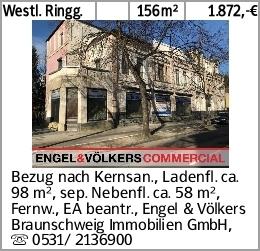 Westl. Ringg. 156m² 1.872,-€ Bezug nach Kernsan., Ladenfl. ca. 98 m²,...