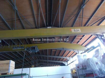 ROSE IMMOBILIEN KG: Lager-/Produktionshallen, tlw. mit Kranbahnen 2,0t t -3,2 t. - 32 t. Traglast!