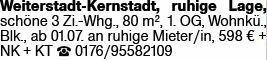 3-Zimmer Mietwohnung in Weiterstadt (64331)