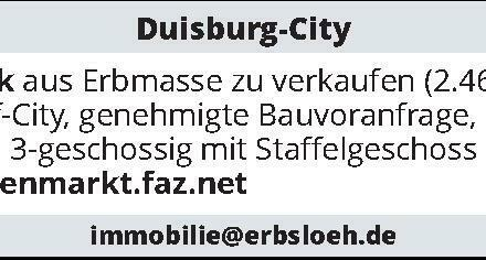 baureifes Grundstück/Duisburg-City