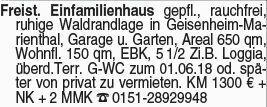 Haus in Geisenheim-Marienthal (65366)