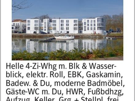 Helle 4-Zi-Whg m. Blk & Wasserblick, elektr. Roll, EBK, Gaskamin, Badew....