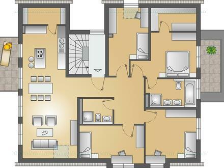 Moderne Eigentumswohnungen in Planung: 5-Zimmer-OG-Wohnung mit zwei Balkonen