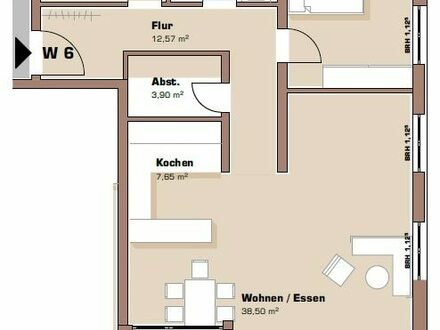 Grundriss 1. Obergeschoss Wohnung 6 / Haus 2