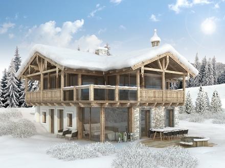 """Hollersbach: Designer-Chalets mit Fullservice nahe Panoramabahn in das Skigebiet """"Kitzbüheler Alpen"""""""