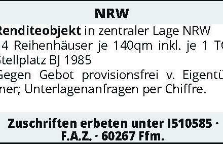 NRW Renditeobjekt