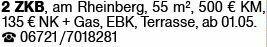2-Zimmer Mietwohnung in Bingen (55411)