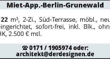 Miet-App.-Berlin-Grunewald 122 m²
