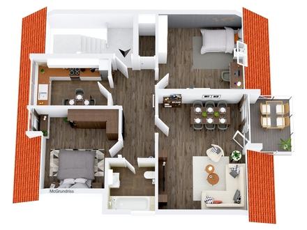 Alt-Marl: Sparbuch oder Grundbuch Erwerben Sie eine 3 Zimmerwohnung mit Balkon!