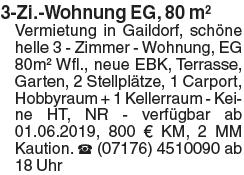 3-Zi.-Wohnung EG, 80 m²