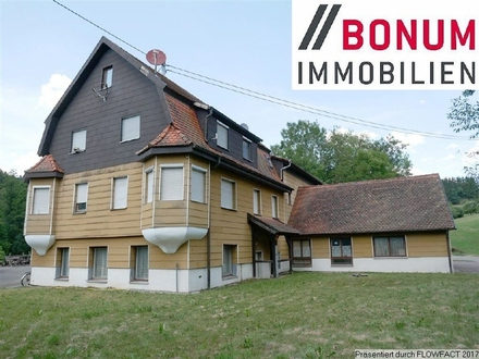 Wohnen und Arbeiten - großes Wohnhaus mit zwei Wohnungen und Werkstatt