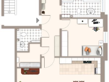 Eine traumhafte 3 Zimmer-Wohnung mit Terrasse