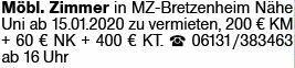 Mietwohnung in Bretzenheim (55559)
