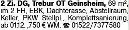 2-Zimmer Mietwohnung in Trebur OT Geinsheim (65468)
