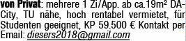 1-Zimmer Eigentumswohnung in Darmstadt (64293)