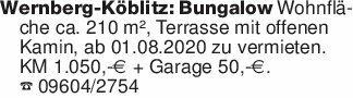 Wernberg-Köblitz: Bungalow Woh...