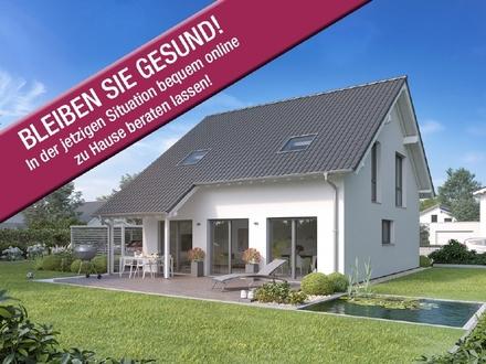 Klassiker in Bestform: Heller Wohnbereich und teilüberdachte Terrasse!