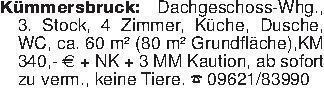 Kümmersbruck: Dachgeschoss-Whg...