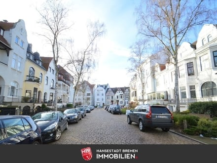 Barkhof / Blick über die Dächer von Bremen mit großer Dachterrasse