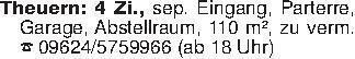 Theuern: 4 Zi., sep. Eingang,...
