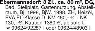 Ebermannsdorf: 3 Zi., ca. 80 m...