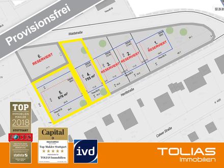 Provisionsfrei - attraktives Baugrundstück ca. 755 m² für freistehendes 1-2 Familienhaus