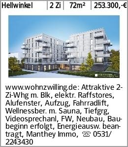 Hellwinkel 2 Zi 72m² 253.300,-€ www.wohnzwilling.de: Attraktive 2-Zi-Whg...