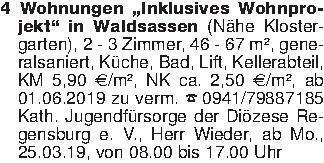 """4 Wohnungen """"Inklusives Wohnpr..."""