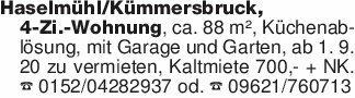 Haselmühl/Kümmersbruck,4-Zi.-W...