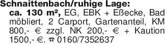 Schnaittenbach/ruhige Lage:ca....