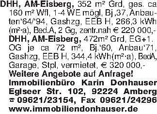 DHH, AM-Eisberg, 352 m² Grd, g...