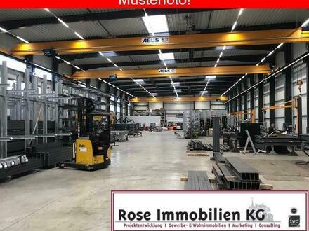 ROSE IMMOBILIEN KG: Produktionshalle mit 2 x 6,3t. Kranbahn und Verwaltung!