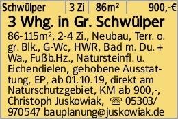 3 Whg. in Gr. Schwülper