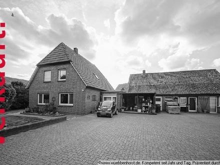 Gepflegtes Einfamilienhaus mit großem Nebengebäude in Osterscheps