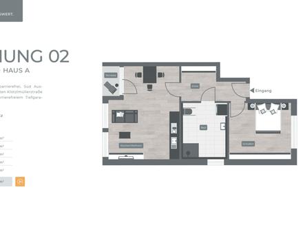 ZENTRAL. GRÜN. LEBENSWERT LANDSHUT 034 Haus A Nr.02 - Erdgeschoss 2-Zimmer