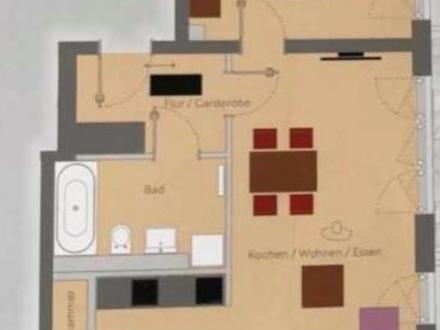 Helle und moderne 2-Zimmer-Neubau-Wohnung