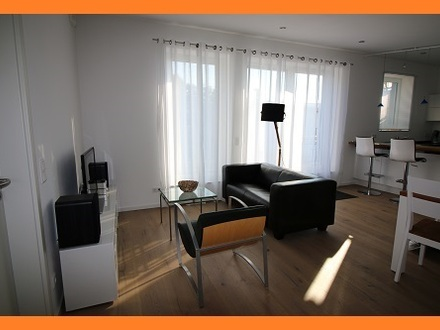 Wohnung mit Dachbalkon in Südausrichtung, zentrale Lage, bequemer Aufzug bis in die Tiefgarage, Passivhausstandard