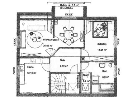 Sonnige Wohnung in Osnabrück-Voxtrup