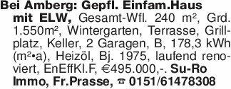 Bei Amberg: Gepfl. Einfam.Haus...