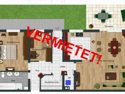 RB Immobilien – TOP-Gepflegte 3 Zimmerwohnung mit 2 PKW-Stellplätzen und Gartenanteil in Kirchheimbolanden.